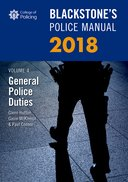 Blackstone's Police Manual Volume 4: General Police Duties 2018$