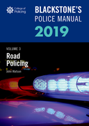 Blackstone's Police Manuals Volume 3: Road Policing 2019