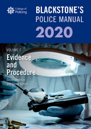 Blackstone's Police Manuals Volume 2: Evidence and Procedure 2020