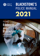 Blackstone's Police Manuals Volume 2: Evidence and Procedure 2021