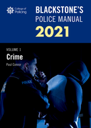 Blackstone's Police Manuals Volume 1: Crime 2021$